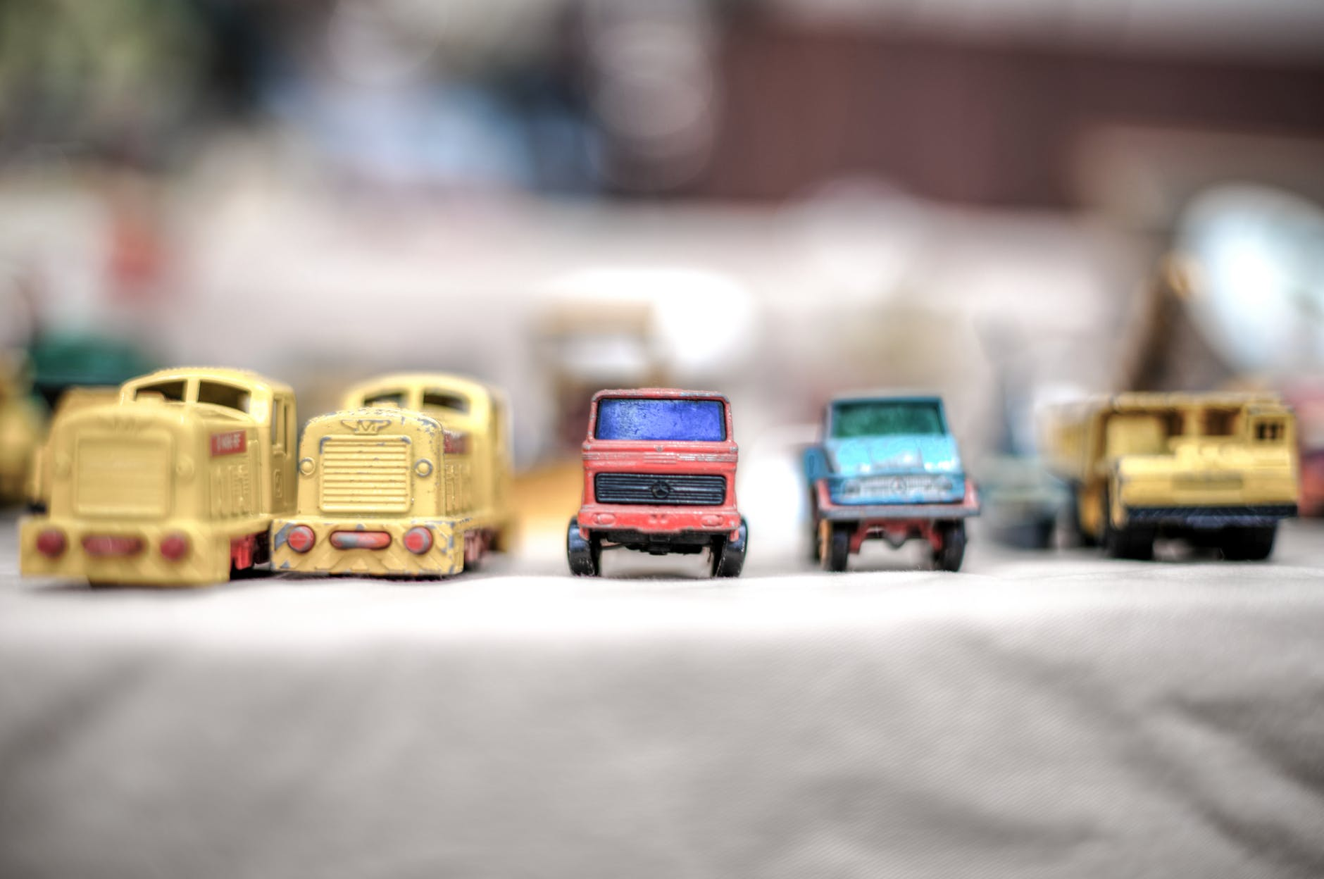 close up photography of toy cars