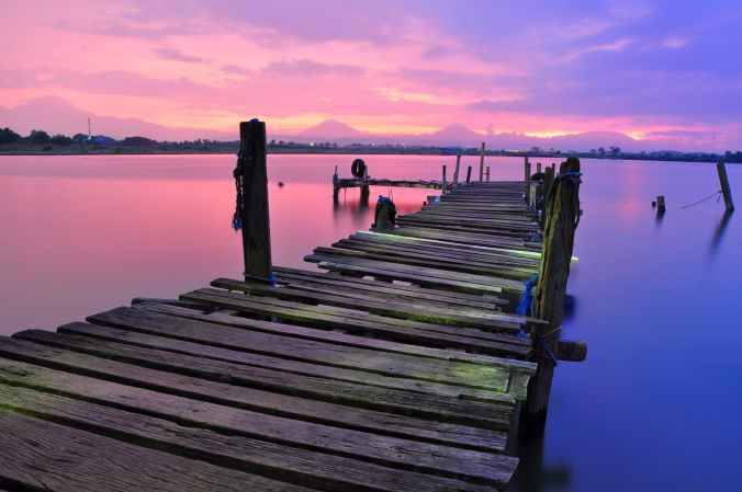 bridge colorful colourful dock