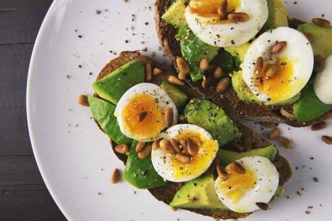 appetizer avocado bread breakfast
