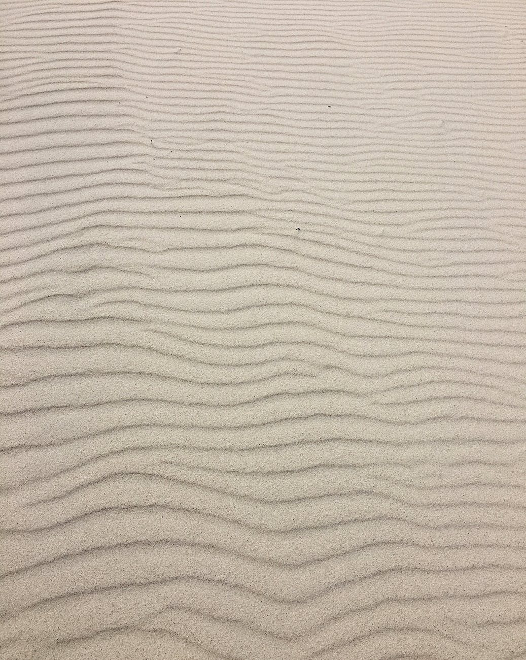 ripples in brown sand